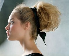 Dramatic extra full bun. So much volume in this updo!