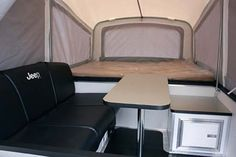 Jeep automotive travel trailer by Livin Lite RV - interior