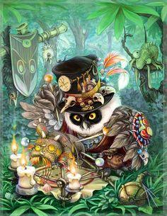 Сова-вуду от иллюстратора Владимира Аржевитина