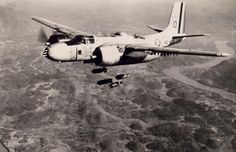 A/B 26 Bomber of French Air force during war in Algeria.