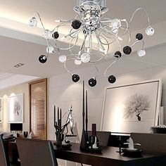 OOFAY LIGHT® 9 Light Flush Mount Crystal Ceiling Light in Polished Chrome, Crystal,Modern Home Ceiling Light Fixture Pendant Light Chandeliers Lighting black&white OOFAY LIGHT http://www.amazon.com/dp/B00NCT275M/ref=cm_sw_r_pi_dp_apJ9vb0FZ6VQJ