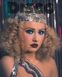 Disco glam makeup 70s makeup Afro hair 70s hair biba fever disco makeup twiggy makeup https://instagram.com/p/BS_zzyflmq5/
