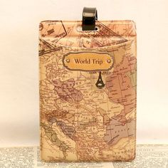 New Fashion Chocolate PVC Leather Travel Luggage Baggage Tags Travel Accessories 11*7.5cm