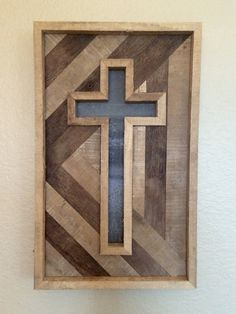 Rustic Handmade Cross by CashdanCraftsmen on Etsy Sanding Tips, Coffee Bean Bags, Roof Panels, Wood Crosses, Cross Patterns, Recycled Wood, Christian Gifts, Wood Working, Pallets