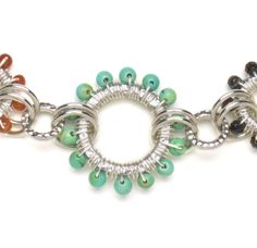 Irina Miech wire-wraps hoops for a gorgeous necklace.