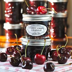 Sweet Bing Cherry Chipotle Preserves...gonna try this one!