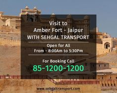 Visit to #AmberFort - #Jaipur with #SehgalTransport. Contact: 85-1200-1200