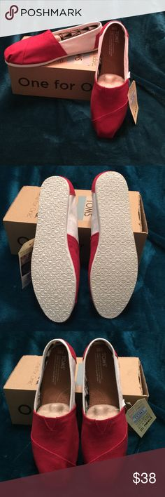 TOMS Classics Size 10. University Of Oklahoma Authentic, Classic, Canvas, TOMS. Size 10 Women. Brand new. Never worn. With tags attached and in box. TOMS Shoes Espadrilles