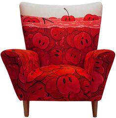 ClickforArt http://www.clickforart.com/BuyArt/Zutto/CherriesWingchair#  Zutto   Cherries Wingchair  Limited Edition Chair