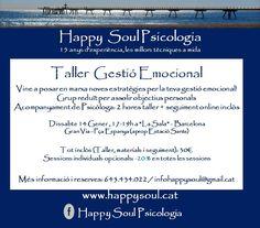 Gestión Emocional. BCN, BDN & Online. www.happysoul.cat