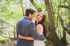 Newlyweds after their ceremony at a rustic wedding venue. -repinned from California ceremony officiant https://OfficiantGuy.com