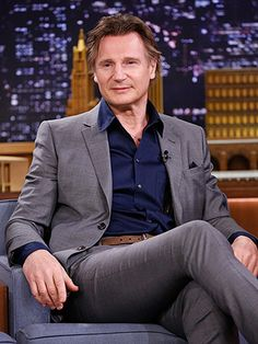 Liam Neeson and his legs.