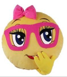 Personalized GIRL NERD Emoji pillows by StylesbySharon on Etsy