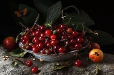 We were floored when we first saw artist Paulette Tavormina's still-life photographs featuring fruits and vegetables. Modeled after century Old Master Still Life Photography, Food Photography, Fruit Painting, Sour Cherry, Incredible Edibles, Still Life Art, Fruit And Veg, Old Master, Still Life