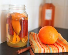 The cleaning powerhouse white vinegar gets a facelift with this easy and cheap DIY. In this homemade house cleaner, orange peels act as a disinfectant while also helping to cut the sharp vinegar smell.