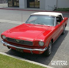 1966 Mustang Convertible Signal Flare Red
