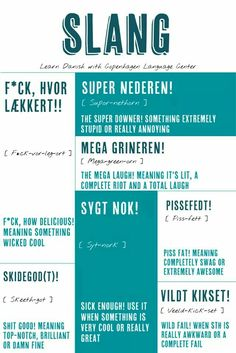 Speak Danish, Danish Words, Danish Language Learning, Norway Language, Idioms, Meant To Be, Sayings, Infographics, Study