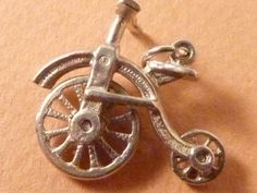 CHIM Vintage Sterling silver charm  Penny Farthing by undermycharm, $21.00