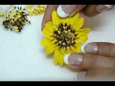 DIY: Polymer clay-italian dough Sunflowers / Clay vase arrangment