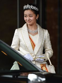 Japan's Princess Kako, granddaughter of Emperor Akihito and Empress Michiko, celebrated her 20th birthday on 29.12.2014 leaves the Imperial Palace in Tokyo after meeting with her grandparents.