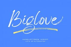 Biglove is as a handwritten script with initial letters and ending swash characters. With its alternative characters, you will see a unique, handmad Script Logo, Handwritten Fonts, Typography Fonts, Lettering, Book Letters, Initial Letters, Microsoft Word 2010, Text Overlay, Character Map