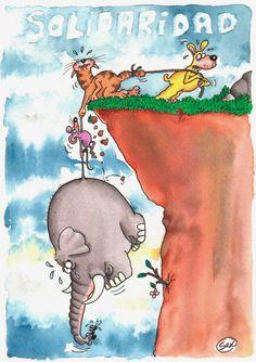 Pensando en la solidaridad veo otra vez esta imagen.. Si todos ayudamos el elefante no resulta tan pesado para el raton. #PersonasEnLaCalle www.facebook.com/argentinosqueayudan