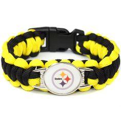 Steelers Football Team Survival Bracelet