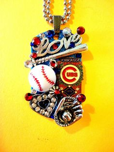 Chicago Cubs Dog Tag Pendant Number 965 by BradosBling on Etsy, $39.99
