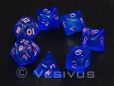 DICE Gaming FIRE OPAL BLUE Translucent 7 pc d20 d6 OOP Out-of-Print Sparkle D&D in Toys & Games, Wargames & Role-Playing, Role-Playing | eBay