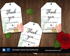 Editable Thank You Tag, Product thank you tag, hang tag, Labels, Stickers Tags,Price Tag, Party Favor Tag, Gift Tag, Kraft Hang Tag #WeddingFavorTags #LogoTag #ThankYouGifts #PartyFavorTags #HangTags #ThankYouTag #CustomClothingTag #PriceTags #GiftTags #ProductTags Tag Templates, Stationery Templates, Design Templates, Wedding Gift Tags, Party Favor Tags, Custom Hang Tags, Thank You Images, Photoshop Software, Id Design