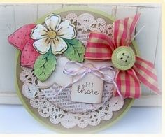 Look at this beauty of a card.  She use Flourishes set Tiny Flowers & Tags.  so cute.