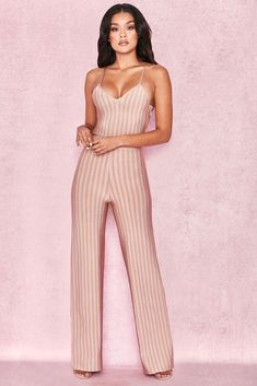 Jumpsuits & Rompers Humor Zara Dusky Pink Jumpsuit Lace Shoulders Size Xl Bnwts Women's Clothing