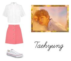 """""""Taehyung"""" by pantsulord on Polyvore featuring Miu Miu, T By Alexander Wang and Converse"""