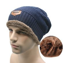 2808dea25137a 2016 Brand Beanies Knit Men s Winter Hat Caps Skullies Bonnet Winter Hats  For Men Women Beanie Fur Warm Baggy Wool Knitted Hat - Best price store