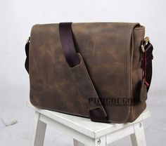 13'' Handcrafted Leather Briefcase / Messenger / von MilanStudio