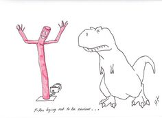 T-Rex Trying Not to Be Envious...
