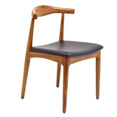 The Willowbrook features a mid-century, slightly curved back that will force your pinky up even when you have a glass of water. - Wood construction - Foam padded seat - Black leatherette 21