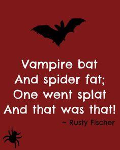 That was splat... A Halloween poem