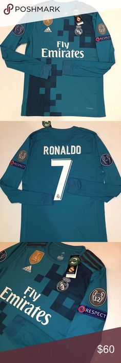 Real Madrid Cristiano Ronaldo Long Sleeve 2017 18 Real Madrid Cristiano  Ronaldo Long Sleeve 2017 · Adidas ShirtAdidas ... f87563150