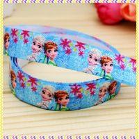 5/8'' Free shipping Fold Over Elastic FOE fever printed headband headwear hair band diy decoration wholesale OEM B935