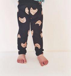 baby toddler kitten face leggings Supayana von supayana auf Etsy, $25.00