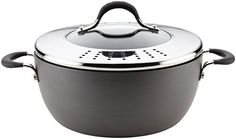 Circulon Momentum HardAnodized Nonstick Covered Casserole with Lock n Strain Lid 55Quart Gray ** Check out this great product.