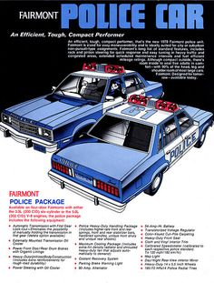 1978 Ford Fairmont Police Cars 2 Vintage Look Metal Sign Bicicletas Raleigh, Emergency Vehicles, Police Vehicles, Old Police Cars, Radios, Police Patrol, Car Brochure, Ford Classic Cars, 4x4