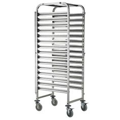 This 15 Tier clearing trolley comes with four lockable castor wheels for easy mobility. The trolley is manufactured in premium grade 304 stainless steel for durability and hygiene and is supp