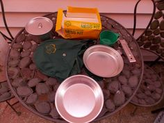 Vintage Girl Scout Aluminum Mess Kit by PfantasticPfindsToo