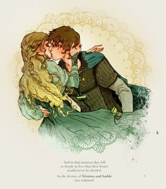 Tristan&Isolde on Behance Art And Illustration, Illustrations, Fantasy Kunst, Fantasy Art, Character Inspiration, Character Art, Desenhos Love, Couple Art, Fantasy Characters