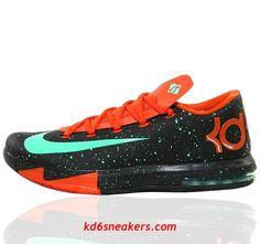 2e8eb2cb68aa NIKE KD VI KD6 Kevin Durant Texas splash-ink Basketball shoes