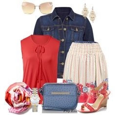 CAbi's reversible skirt, Lobster Top and Norma Jean Jacket.