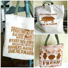DIY One Hour Market Bags