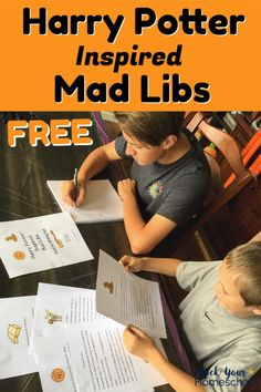 Free Printable Harry Potter-Inspired Mad Libs for Writing Fun - Enjoy these free Harry Potter-Inspired Mad Libs for party, classroom, homeschool, & family fun! Harry Potter Free, Harry Potter School, Harry Potter Classroom, Harry Potter Birthday, Harry Potter Activities, Harry Potter Printables, Yer A Wizard Harry, Mad Libs, 3rd Grade Reading